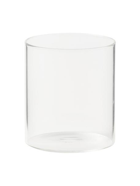 Vasos de vidrio borosilicato Boro, 6uds., Vidrio de borosilicato, Transparente, Ø 8 x Al 9 cm