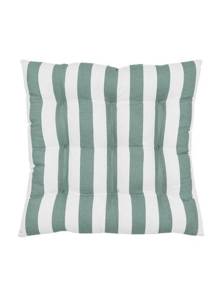 Cojín de asiento Timon, Funda: 100%algodón, Verde, An 40 x L 40 cm