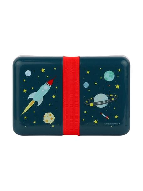 Lunch box Space, Materiale sintetico, Blu, rosso, Larg. 12 x Alt. 6 cm