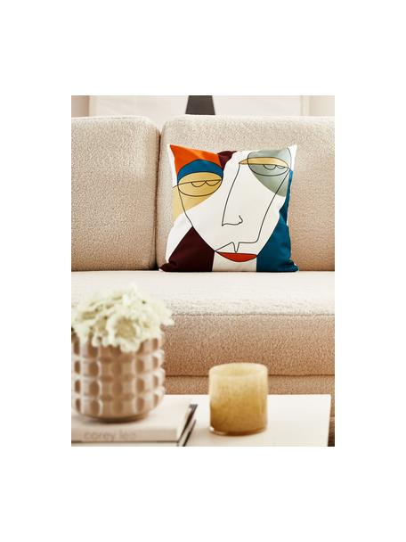 Funda de cojín Adrian, Blanco, multicolor, An 40 x L 40 cm