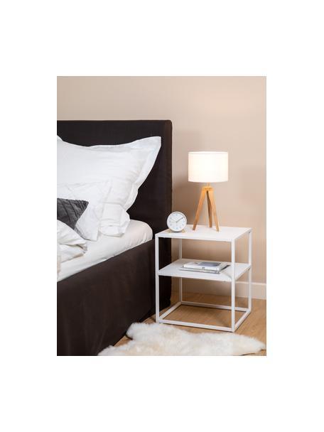 Stolik pomocniczy z metalu Neptun, Metal, lakierowany, Biały, S 45 x G 40 cm