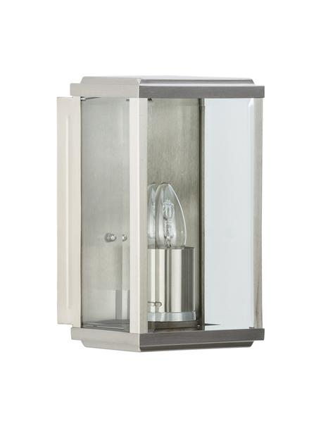 Außenwandleuchte Wally mit Glasschirm, Lampenschirm: Glas, Edelstahl , 16 x 25 cm