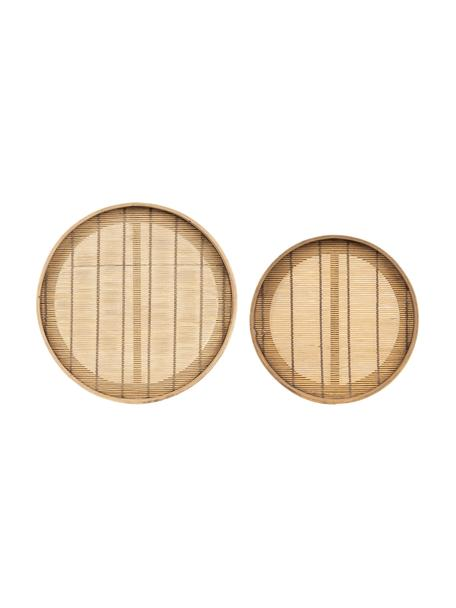 Komplet tac z drewna bambusowego Plaka, 2 elem., Drewno bambusowe, drewno jodłowe, Beżowy, Komplet z różnymi rozmiarami