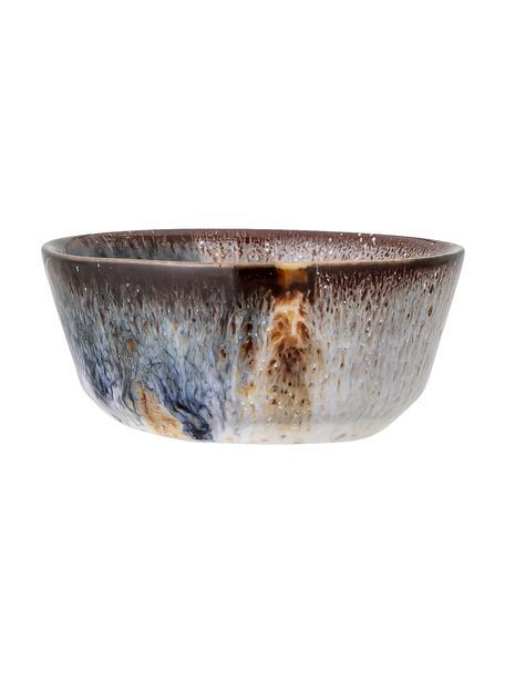 Ciotola piccola fatta a mano in terracotta con gradiente Jules 2 pz, Gres, Grigio, marrone, blu, beige, Ø 8 x Alt. 4 cm. 75 ml
