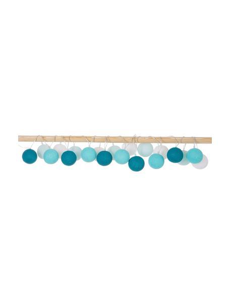 LED lichtslinger Colorain, 378 cm, 20 lampions, Lampions: polyester, Wit, blauwtinten, L 378 cm