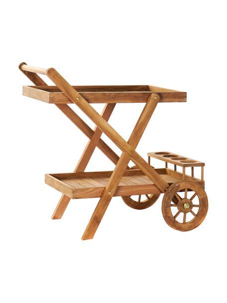 Tavolino in legno di teak Fredi, Legno di teak, Beige, Larg. 83 x Prof. 56 cm