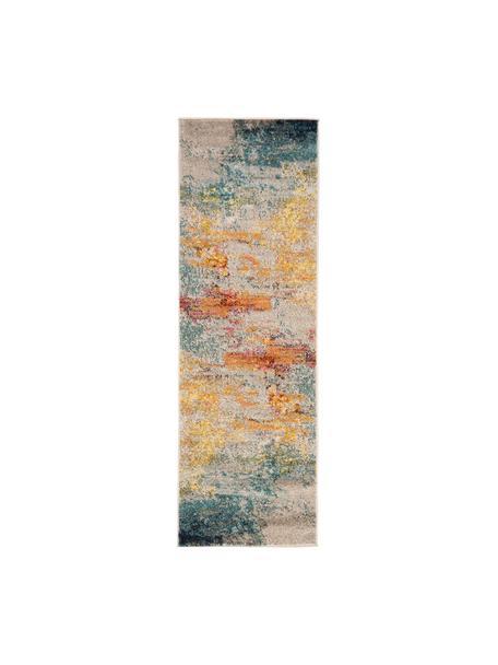 Passatoia fantasia colorata di design Celestial, Retro: juta, Multicolore, Larg. 60 x Lung. 183 cm