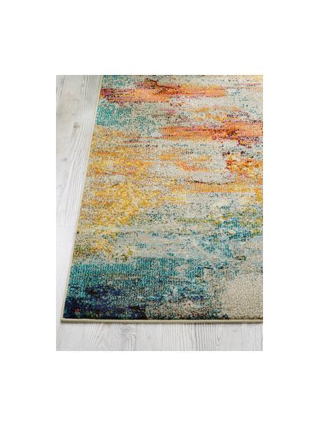 Passatoia di design colorato Celestial, Retro: juta, Multicolore, Larg. 60 x Lung. 183 cm