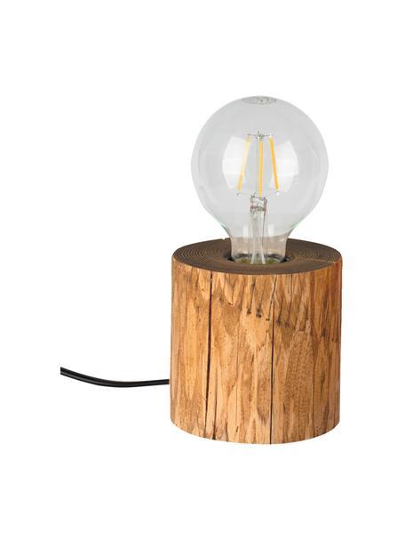 Lámpara de mesa pequeña de pino Trabo, Cable: plástico, Marrón, Ø 12 x Al 10 cm