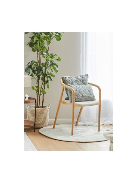 Okrągły ręcznie tkany dywan z wiskozy Jane, Szarozielony, Ø 115 cm (Rozmiar S)