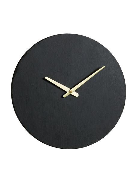 Zegar ścienny Wenig, Czarny, odcienie złotego, Ø 40 cm