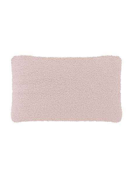 Flauschige Teddy-Kissenhülle Mille in Rosa, Vorderseite: 100% Polyester (Teddyfell, Rückseite: 100% Polyester (Teddyfell, Rosa, 30 x 50 cm