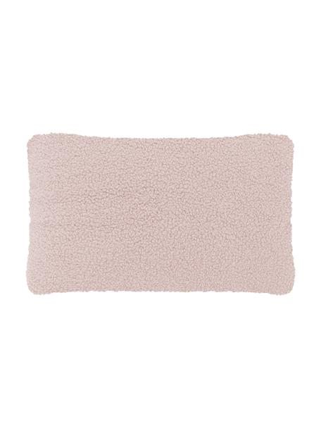 Zachte teddy kussenhoes Mille in roze, Roze, 30 x 50 cm