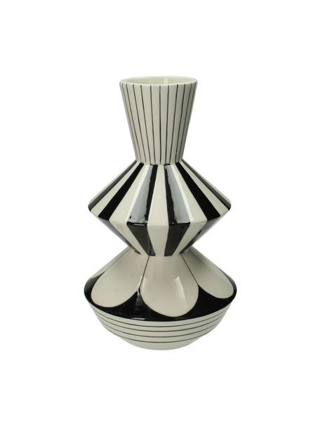Vaas Graphic, Keramiek, Wit, zwart, Ø 17 x H 29 cm