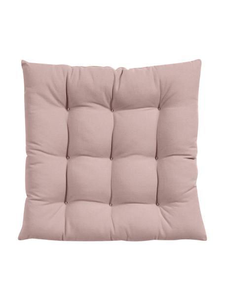 Cuscino sedia rosa Ava, Rivestimento: 100% cotone, Rosa, Larg. 40 x Lung. 40 cm