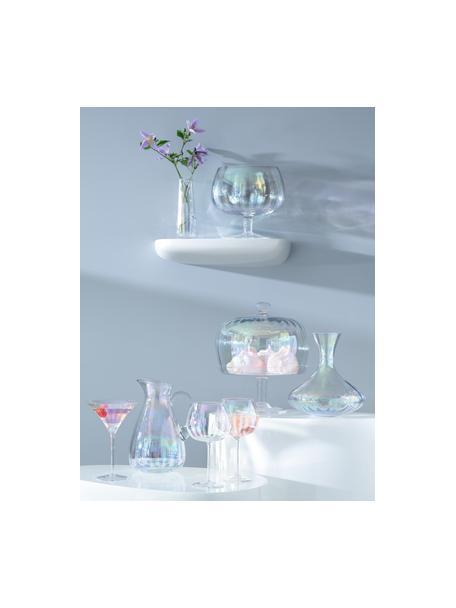 Decanter in vetro soffiato Pearl, 2.4 L, Vetro, Riflessi madreperlacei, Alt. 23 cm