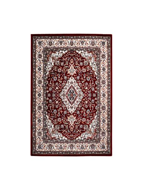 Gemusterter Teppich Isfahan in Dunkelrot im Orient Style, 100% Polyester, Dunkelrot, Mehrfarbig, B 80 x L 150 cm (Größe XS)