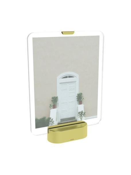 LED-Bilderrahmen Glo, Sockel: Metall, vermessingt, Messingfarben, 20 x 25 cm