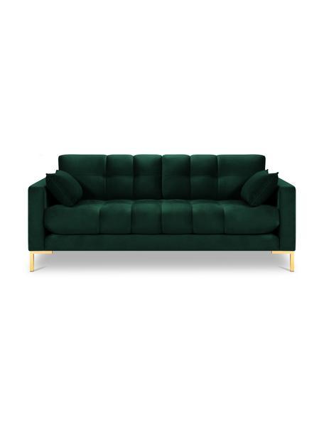 Sofa z aksamitu Mamaia (2-osobowa), Tapicerka: 100% aksamit poliestrowy , Nogi: metal powlekany, Butelkowy zielony, S 152 x G 92 cm