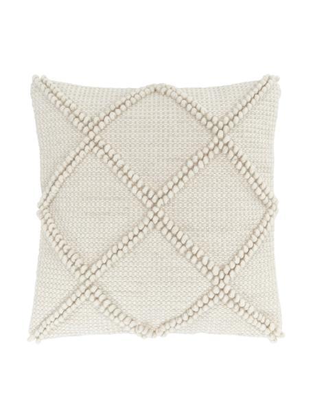 Funda de cojín texturizada Janina, 100%algodón, Beige, An 45 x L 45 cm