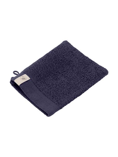 Guantes de baño Soft Cotton, 2uds., Azul marino, An 16 x L 21 cm