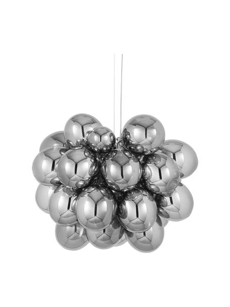 Glaskugel Pendelleuchte Gross Grande, Baldachin: Nickel, verchromt, Chrom, Ø 62 x H 50 cm