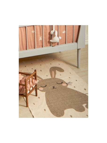 Teppich Rabbit, Baumwolle, Gebrochenes Weiss, 70 x 140 cm