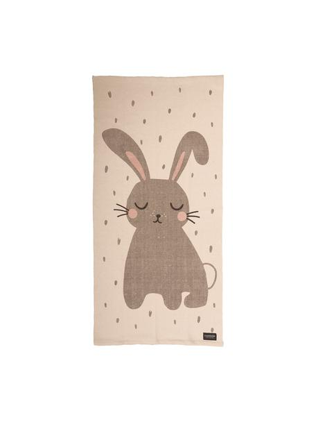 Vloerkleed Rabbit, Katoen, Gebroken wit, 70 x 140 cm