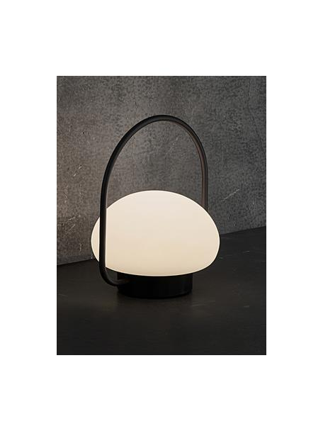 Mobiele dimbare LED tafellamp Sponge, Lampenkap: kunststof, Wit, zwart, Ø 23 x H 28 cm