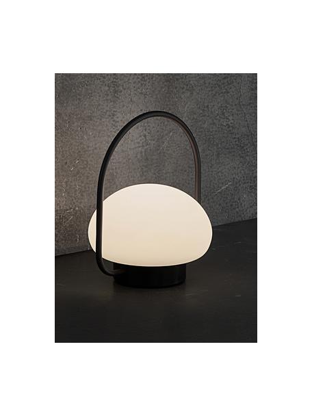Zewnętrzna mobilna lampa stołowa z funkcją przyciemniania Sponge, Biały, czarny, Ø 23 x W 28 cm