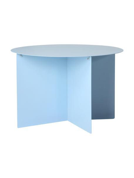 Ronde metalen salontafel Dinga in lichtblauw, Gepoedercoat metaal, Lichtblauw, Ø 60 x H 40 cm