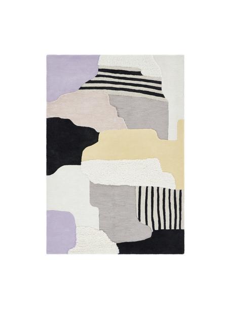 Tappeto in lana a pelo lungo taftato a mano Hanne, 60% lana, 40% viscosa Nel caso dei tappeti di lana, le fibre possono staccarsi nelle prime settimane di utilizzo, questo e la formazione di lanugine si riducono con l'uso quotidiano, Multicolore, Larg. 200 x Lung. 300 cm (taglia L)
