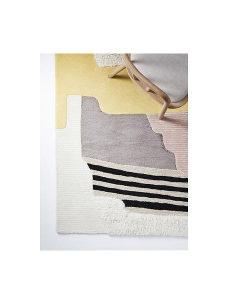 Ręcznie tuftowany dywan z wełny z wysokim stosem Hanne, 60 % wełna, 40 % wiskoza Włókna dywanów wełnianych mogą nieznacznie rozluźniać się w pierwszych tygodniach użytkowania, co ustępuje po pewnym czasie, Wielobarwny, S 200 x D 300 cm (Rozmiar L)