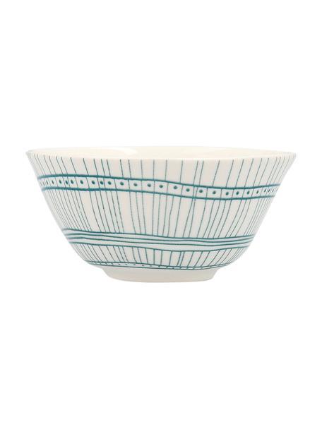 Cuencos de porcelana Botanic, Porcelana, Verde, blanco, Ø 10 x Al 4 cm
