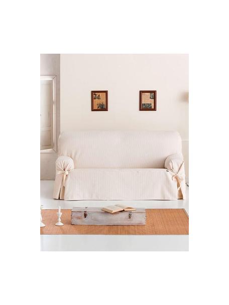 Copridivano Bianca, 100% cotone, Color crema, Larg. 200 x Alt. 110 cm