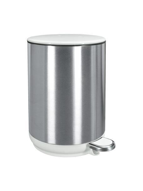 Afvalemmer Elegance met pedaalfunctie, Edelstaal, kunststof, Zilverkleurig, 21 x 31 cm
