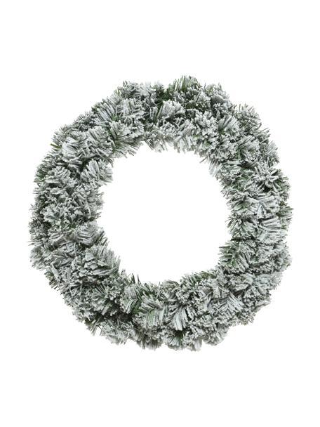 Ghirlanda di Natale Imperial, nevicato, Materiale sintetico, Verde, bianco, Ø 35 x Alt. 15 cm