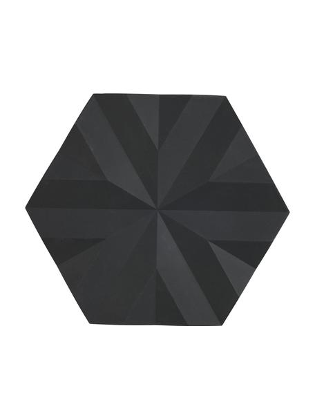 Sottopentola color nero Ori 2 pz, Silicone, Nero, Lung. 16 x Larg. 14 cm