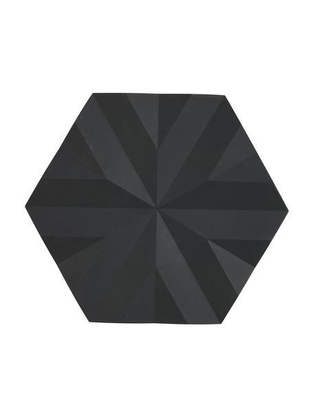 Topfuntersetzer Ori, 2 Stück, Silikon, Schwarz, 14 x 16 cm