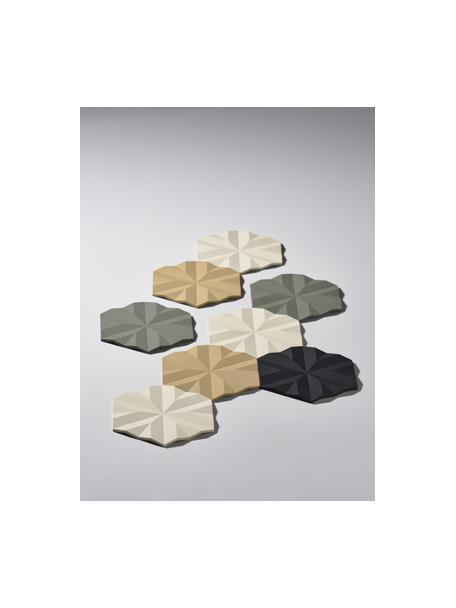 Salvamanteles Ori, 2uds., Silicona, Negro, L 16 x An 14 cm