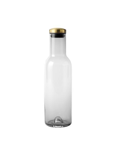 Bottiglia in vetro grigio con tappo dorato Deluxe, 1 L, Grigio fumo, Alt. 29
