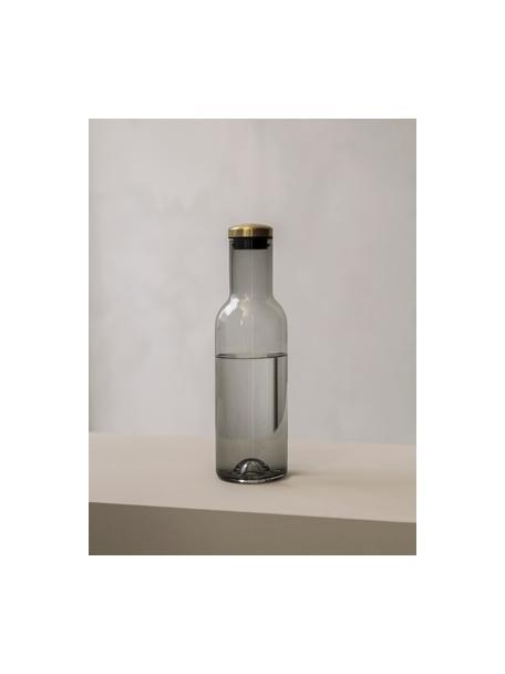 Bottiglia in vetro con tappo dorato Deluxe, 1 L, Grigio fumo, Alt. 29