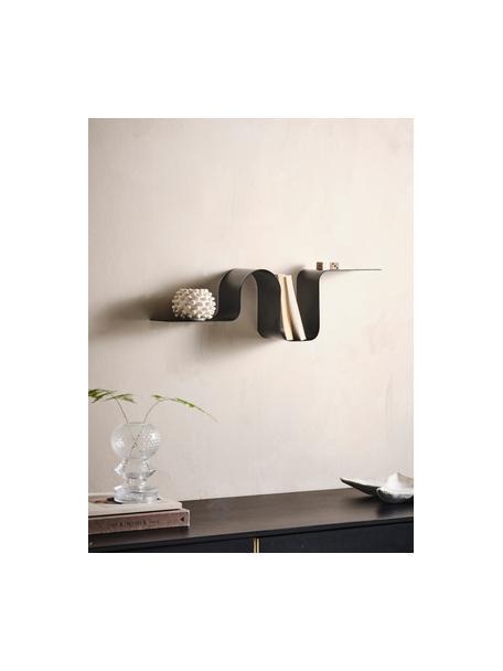 Półka ścienna z metalu Caterpillar, Metal powlekany, Czarny, S 64 x W 19 cm