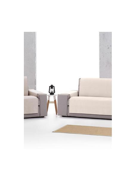Funda de sillón Levante, 65%algodón, 35%poliéster, Gris verdoso, An 55 x L 220 cm