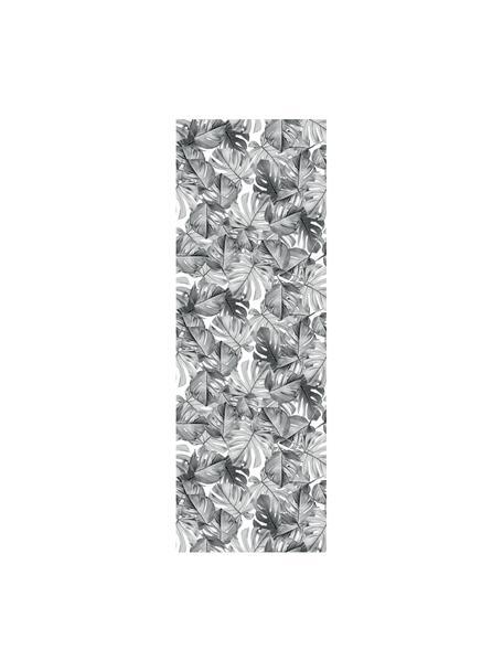 Fototapete Monstera, Vlies, umweltfreundlich und biologisch abbaubar, Schwarz, Weiss, 97 x 280 cm