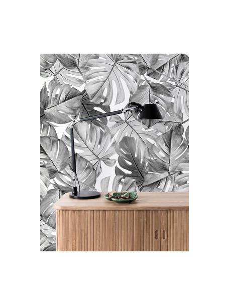 Fototapeta Monstera, Włóknina przyjazna dla środowiska i biodegradowalna, Czarny, biały, S 97 x W 280 cm