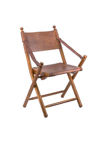 Silla plegable artesanal Tarlton, Estructura: madera de caoba, Marrón, An 53 x F 56 cm