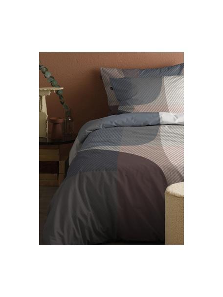 Katoensatijnen dekbedovertrek Moore, Weeftechniek: satijn Draaddichtheid 200, Grijs, bruin, 140 x 220 cm + 1 kussen 60 x 70 cm