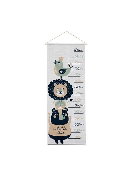 Messlatte Lion, Polyester (Mikrofaser), Grau, Schwarz, Grün, Beige, 40 x 155 cm