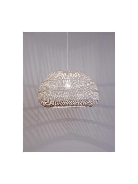Pendelleuchte Melody aus Rattan, Lampenschirm: Rattan, Baldachin: Kunststoff, Gebrochenes Weiß, Ø 51 x H 30 cm